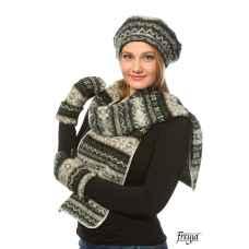 Комплект: берет, варежки и шарф 08071-43
