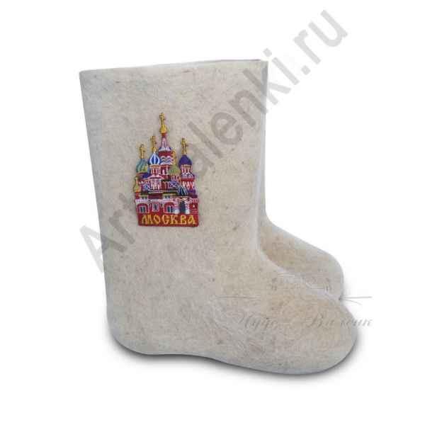 """Валенки ручной валки белые""""Москва-3""""с 23 по 24р."""
