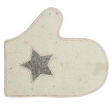 Рукавица Звезда, белая