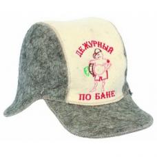 """Шляпа для сауны Бейсболка""""Дежурный по бане"""""""