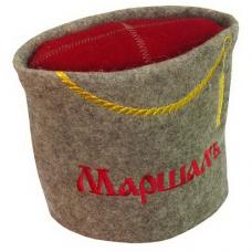 """Шляпа для бани и сауны """"Маршал"""" до 62р. шерсть 100%"""