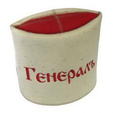 """Шапка для бани и сауны """"Папаха-Генерал""""до 62р. шерсть 100%"""