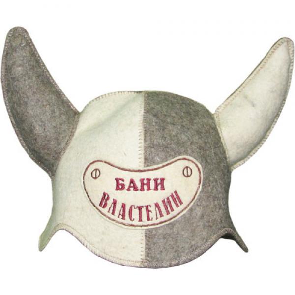 """Шапка для бани и сауны """"Властелин Бани"""" до 62р. шерсть 100%"""