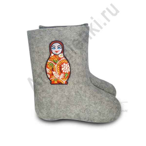 "Валенки детские ручной валки ""Матрешка-2""с 13 по 19р."