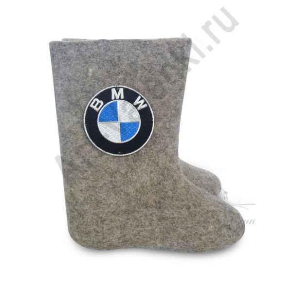 """Валенки ручной валки серые """"BMW"""" с 23 по 24р."""