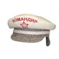 """Шапка для бани и сауны """"Офицер-Командир""""до 62р. шерсть 100%"""