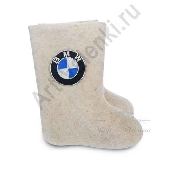 """Валенки ручной валки белые """"BMW-1"""" с 23 по 24р."""