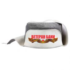 """Шапка для бани и сауны """"Ушанка"""" - """"Ветеран Бани"""""""