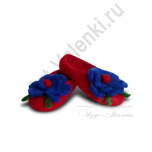 """Тапочки красные """"Маки"""""""