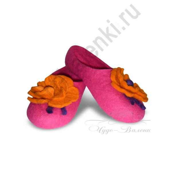 """Тапочки розовые """"Маки"""""""