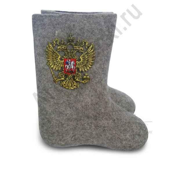 """Валенки ручной валки серые""""Герб-4""""с 20 по 22 р."""