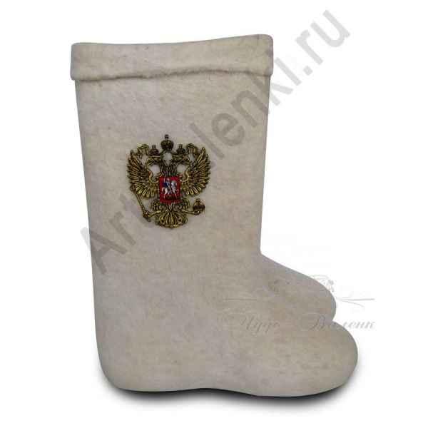 """Самовалки высокие белые с гербом""""премиум-класса"""" с 27(40)по 30р."""