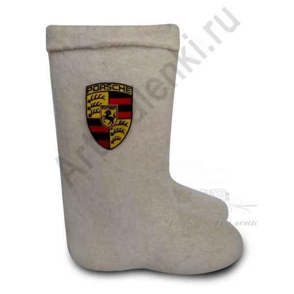 """Валенки ручной валки бел.""""Лого Porsche"""" с 28(42) по 30(44)р."""