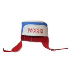"""Шапка для бани и сауны """"Ушанка"""" - """"Россия"""" до 64р. шерсть 100%"""