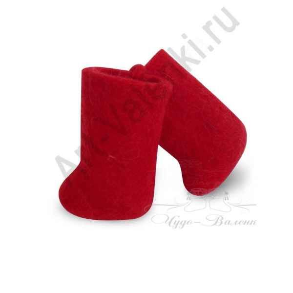 Сувенирные цветные валенки, красные