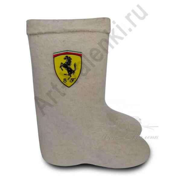 "Валенки ручной валки бел.""Ferrari"" с 28см внутри (41-42)р. до 32см( 46р.)"