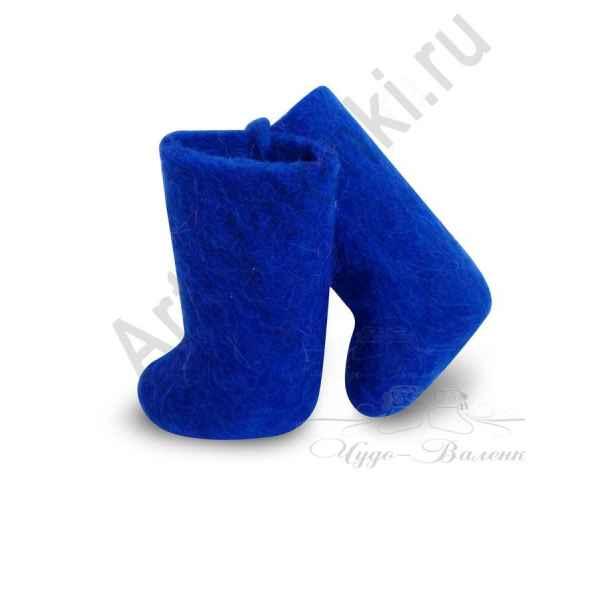 Сувенирные цветные валенки, синие арт.775
