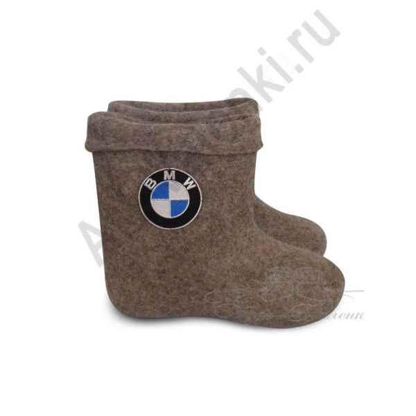 """Валенки ручной валки короткие серые """"BMW""""с 31(45) по 33(47)р."""