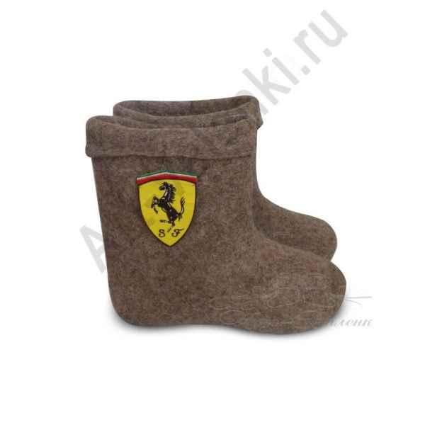"""Валенки ручной валки короткие серые """"Ferrari""""с 31(45) по 33(47)р."""