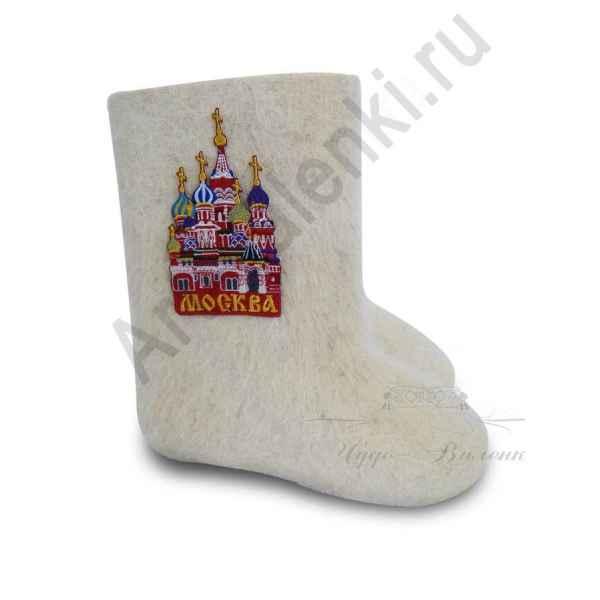 """Валенки ручной валки белые""""Москва""""с 13 по 19р."""