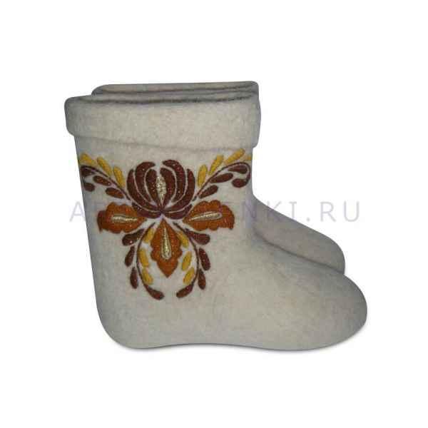 """Валенки короткие с вышивкой премиум-класса """"Фантазия"""", арт.2442"""