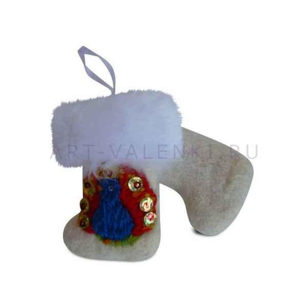Сувенирные валенки с вышивкой 5х8см,арт.2186