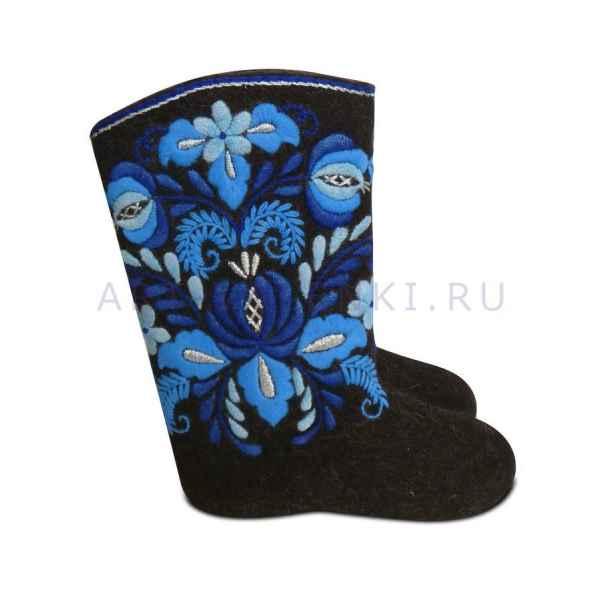 """Валенки с вышивкой премиум-класса """"Гжель"""" арт.2833"""
