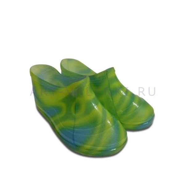 Галоши детские на валенки, цвет- зеленый 19р.