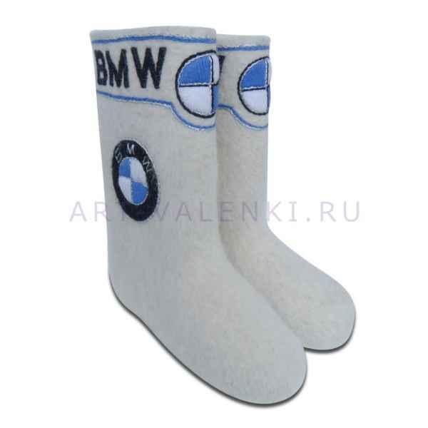 """Валенки ручной валки с вышивкой премиум-класса, """"BMW"""" 29 см.(43р.)"""