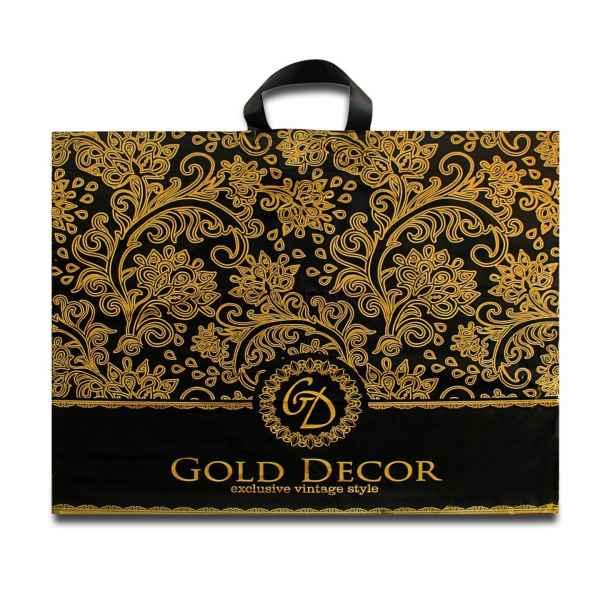 Пакет с петлевой ручкой 60х50+6(70) Голд Декор