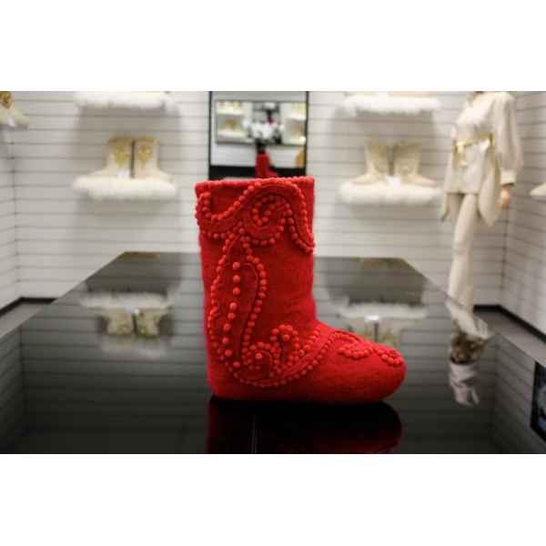 Самовалки выс.красные с войлочным декором модель №7