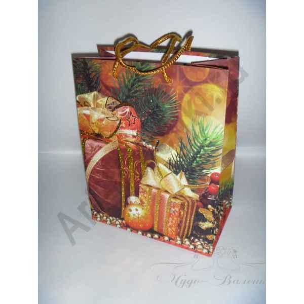 Подарочный пакет 23х18х10 см, арт.2.