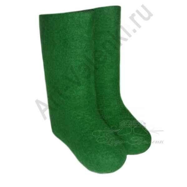 """Валенки зеленые ручной валки """"премиум-класса"""""""