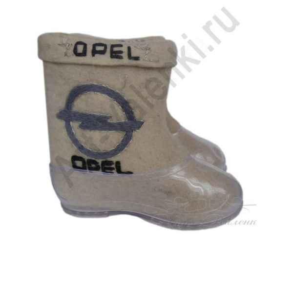 Валенки короткие с вышивкой OPEL, 26см внутри (38р.) арт.61