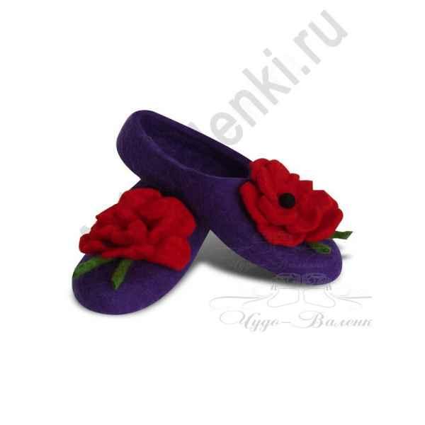 """Тапочки фиолетовые """"Маки"""""""