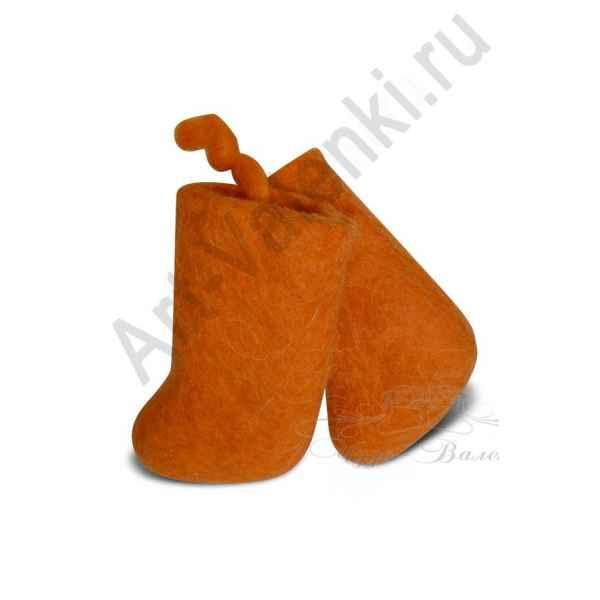 Сувенирные цветные валенки, оранжевые