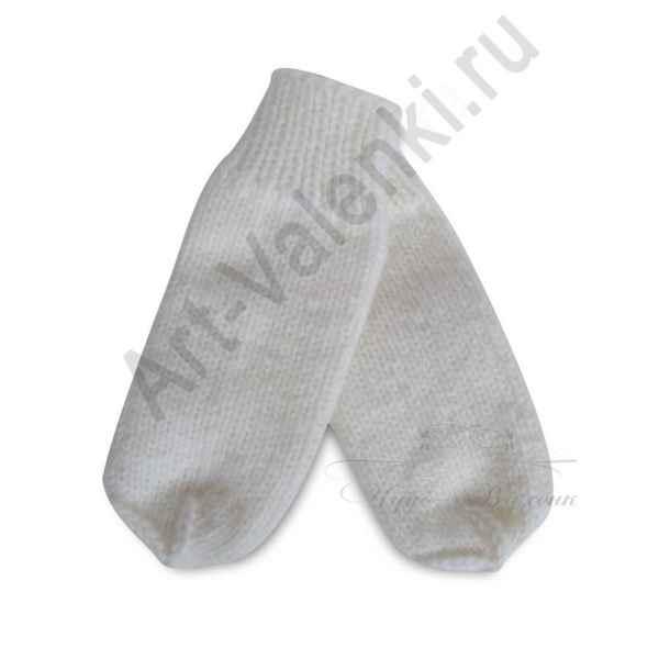 Дизайнерские варежки ручной вязки с вышивкой 59