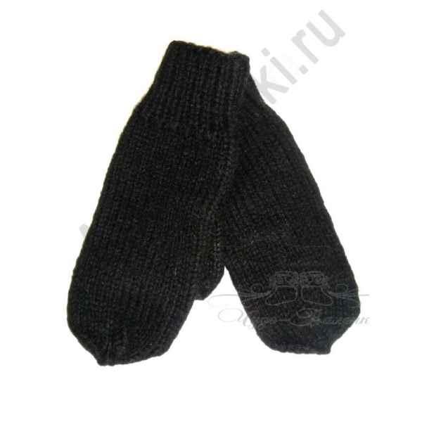 Дизайнерские варежки ручной вязки с вышивкой 58