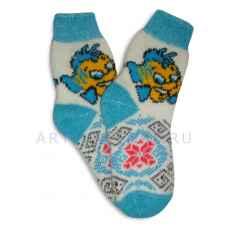 Детские шерстяные носки из овечьей шерсти арт.2013