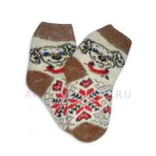 Детские шерстяные носки из овечьей шерсти арт. 2014