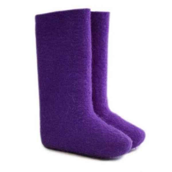 """Валенки фиолетовые ручной валки """"премиум-класса"""""""