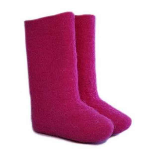 """Валенки розовые ручной валки """"премиум-класса"""""""