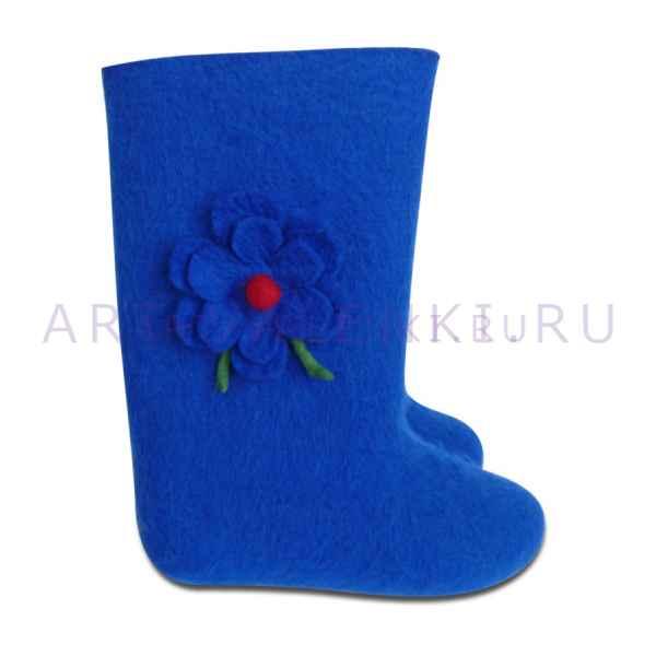 "Валенки синие с цветком""премиум-класса""арт.2857"