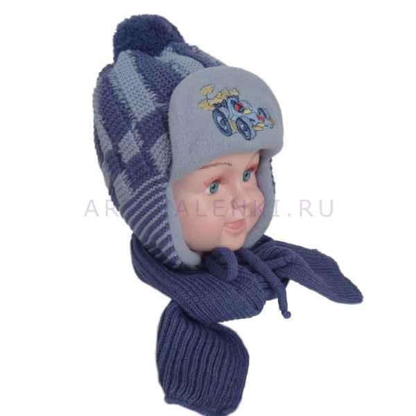 Шапочка и шарф для мальчика НZ-13