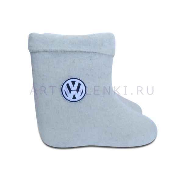 """Валенки белые ручной валки """"Volkswagen"""""""