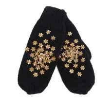 Дизайнерские варежки ручной вязки с вышивкой арт.838