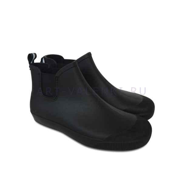 Резиновые сапоги NORDMAN  ПС-30, черные с серой подошвой