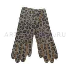 Перчатки кожаные жен. леопардовые арт.3320