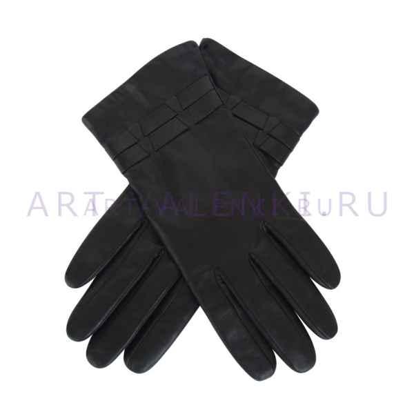 Перчатки кожаные женские черные арт.3321