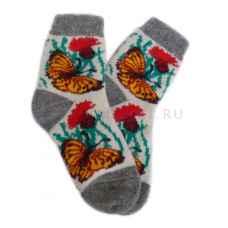 Женские шерстяные носки из овечьей шерсти арт.2179